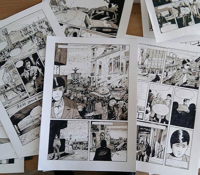 Carnaval en Rode Jeugd in Eindhoven, 1972, in graphic novel Kameraden, Lichtstadfamilie